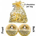 Personalised Xmas Gift Belgian Chocolates Xmas Penguin